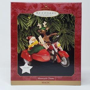 1997 Hallmark Motorcycle chums Ornament.